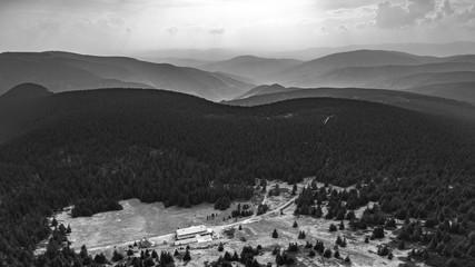 Recess Fitting Gray traffic summer mountain landscape