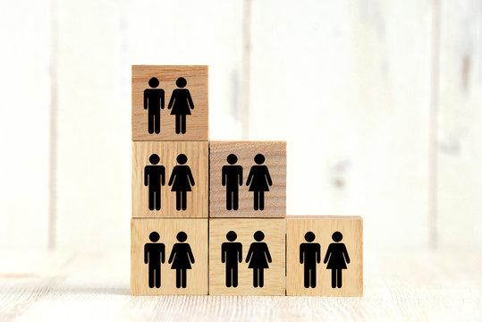 人口の減少イメージ