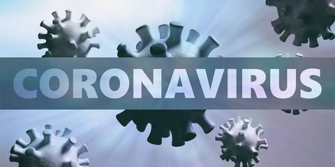 Flu coronavirus floating, micro view, pandemic virus infection, asian flu concept.3d illustration