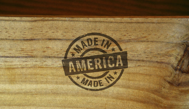 Made in America stamp and stamping
