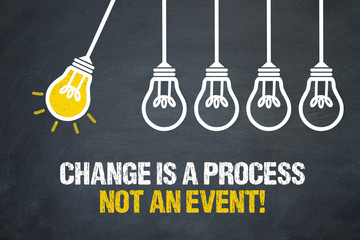 Change is a process not an event!