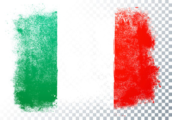 Vector Illustration Distortion Grunge Flag Of Italy Fotomurales