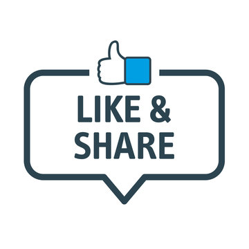 Like and share vector illustration