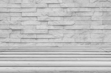 Room cement empty grey texture background.Modern room.Creative design gray floor.luxury interior concrete home brick wall white background.concrete of flooring display.white texture brick wall