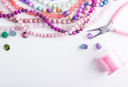 Stone beads for beadwork