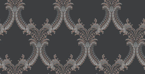 Decorative elegant luxury design.Vintage elements in baroque, rococo style.Design for cover, fabric, textile, wrapping paper . - 317503209