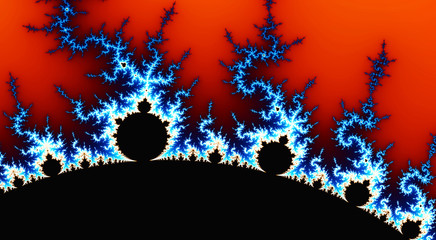In de dag Rood traf. digital generated abstract fractal
