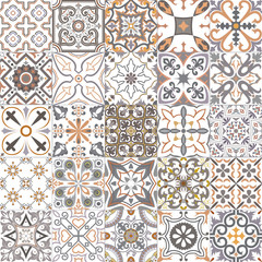 Set of tiles in portuguese, spanish, italian style. For wallpaper, backgrounds, decoration for your design, ceramic, page fill and more.
