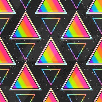 Rainbow triangle seamless pattern.