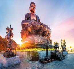 Giant Buddha statue on the top of mount Fansipan, Sapa region,  Lao Cai, Vietnam