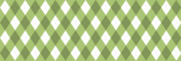Green Argyle Banner