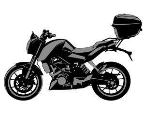 Wall Mural - Sport motorcycle on white background