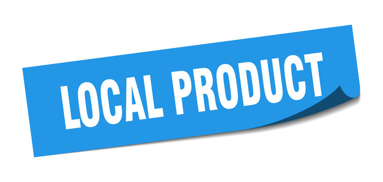 local product sticker. local product square sign. local product. peeler