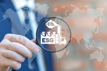 ESG concept of environmental social and corporate governance in sustainable and ethical business.