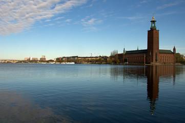 In de dag Stockholm City Hall