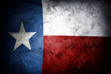 Foto op Canvas Texas Grungy Texas flag