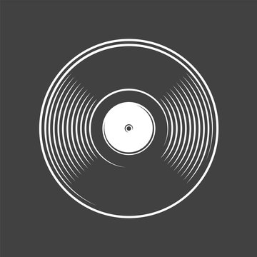 Vinyl record isolated on a black background