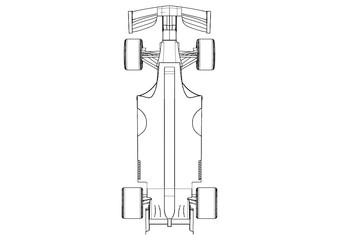 Foto op Aluminium F1 Silhouette F1 Car Vector