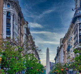 Stores photo Buenos Aires The Obelisco de Buenos Aires (Obelisk of Buenos Aires) an icon of Buenos Aires, Argentina. Erected in 1936 to commemorate the quadricentennial of the city foundation.