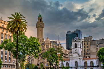 Photo sur Toile Buenos Aires Plaza de Mayo (May Square), the main foundational site of Buenos Aires, Argentina. It has been the scene of the most momentous events in Argentine history.