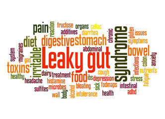 Leaky gut syndrome word cloud concept 3