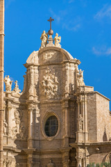 Iron gate, the main door of the Cathedral of Valencia
