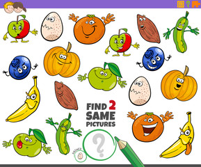 find two same characters educational game for children