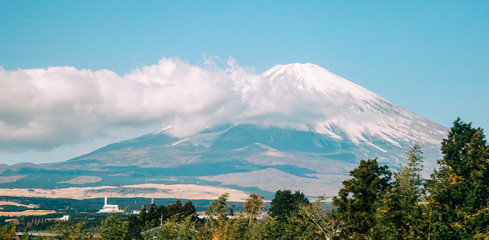 View of Mt. Fuji in sunny day