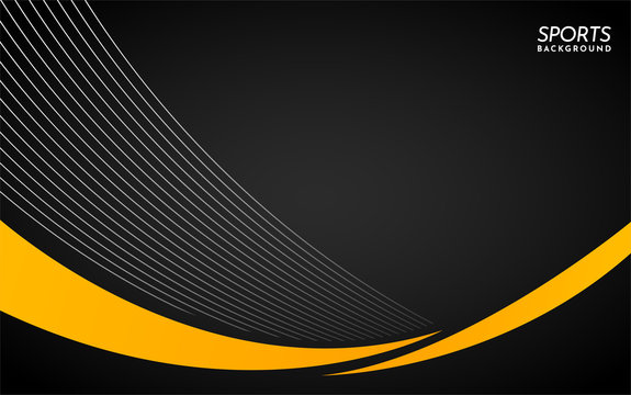 Black Sports Background with Lines and Shape. Abstract Background