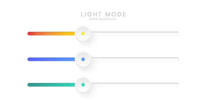 Elegant 3D Slider Bar UI in Light Mode