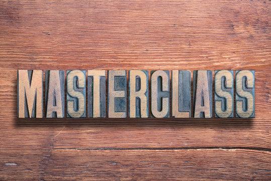masterclass word wood