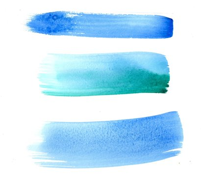 Abstract blue and green texture and background with brushstroke like lines drawn by watercolor paints. Great basic of print, badge, party invitation, banner, tag.