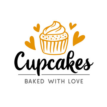 Cupcakes logotype badge label