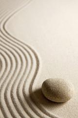 Door stickers Stones in Sand image