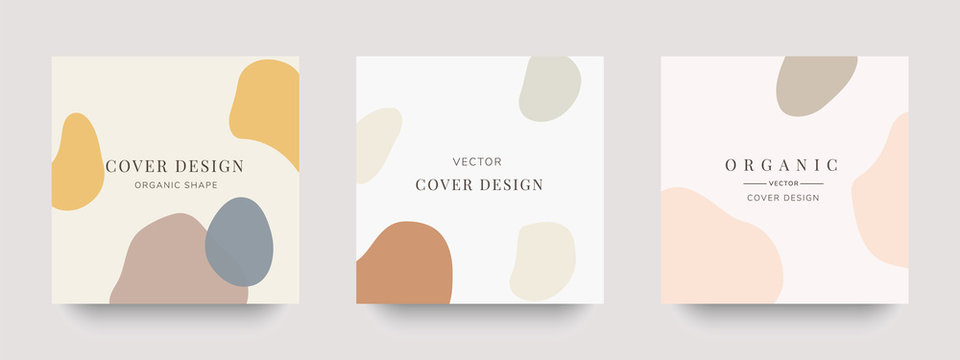 Creative hard paint cover design backgrounds vector. Minimal trendy style organic shapes pattern with copy space for text design for invitation, Party card,Social Highlight Covers and stories page