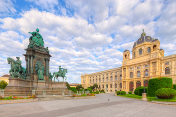 Wall Mural - Maria Theresa monument on the square near Historical museum in Vienna, Austria.
