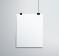 isolated picture frame on wall vector illustration EPS10