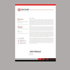 Modern Professional letterhead template design