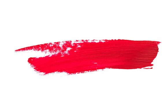 Lipstick smear smudge swatch isolated on white background - Image