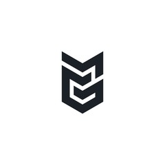 Fototapeta MG, GM initial Logo design Vector. obraz