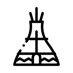 Wigwam Icon Vector. Outline Wigwam Sign. Isolated Contour Symbol Illustration