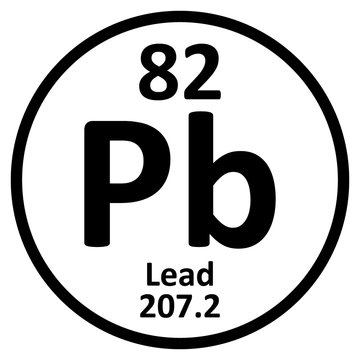 Periodic table element lead icon.