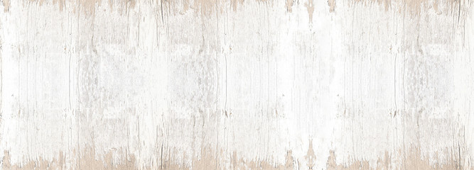 old white painted exfoliate rustic bright light wooden texture - wood background banner panorama...