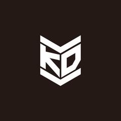 Logo alphabet monogram with emblem style