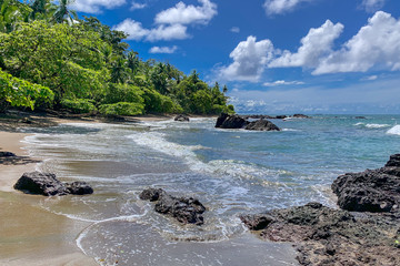 Costa Rica. Beach at the pacific coast in the Corcovado National Park (Spanish: Parque Nacional Corcovado). Fototapete