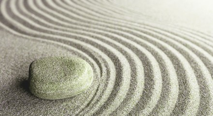 Wall Mural - Zen stone on the sand. Meditation concept