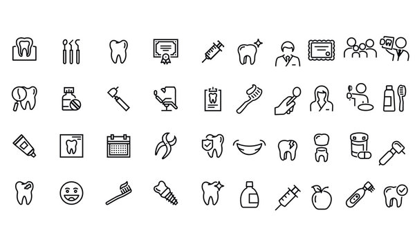 Dentistry Icon vector design black and white