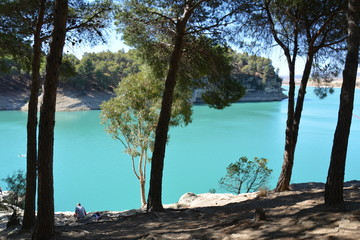 Poster Turquoise Caminito del Rey Andalousie Espagne