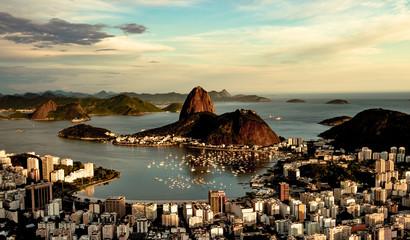 Sugarloaf Mountain in Afternoon Sun in Rio De Janeiro