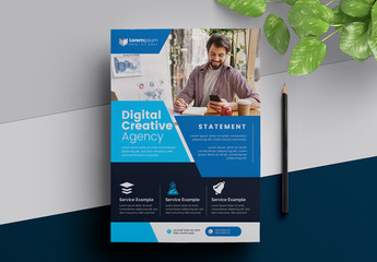 Blue and Dark  Business Flyer Layout